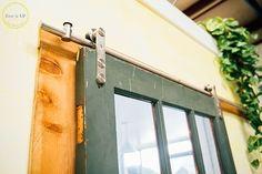 Salvaged Door Turned Sliding Barn Door