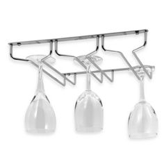 Display and protect your fragile stemware. Metal rack attaches to the underside of a cabinet 10
