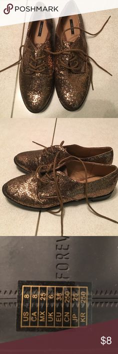Bronze flat Bronze flats size 8, worn once Forever 21 Shoes Flats & Loafers
