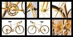 How To Create the World's Most Expensive Giant Defy 3 - Dip it in GOLD! Giant Defy, Most Expensive, Black Accents, Old Things, Bicycle, Plating, Gold, Road Bike, Suddenly