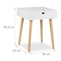 This 1 Drawer Bedside Table impresses with its compact storage possibilities and its Scandinavian design. The clear lines combined with modest elegance fit in any surroundings. The angled and natural-coloured legs are a decorative accent to the matt wood of the shelf. The drawer provides space for reading glasses, a book and other small items. A reading light and alarm clock easily fit on the top surface, or it can be used as a telephone table in the hallway or as a side table in the living…