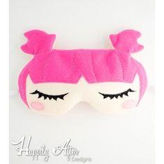 Sweet Dreamer Sleep Mask ITH Embroidery Design