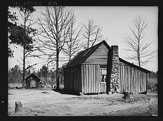 Home of tenant farmer. Walker County, Alabama.  Taken by Arthur Rothstein in February 1937