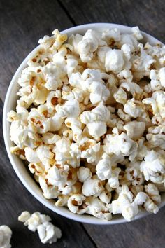 A simple, vegan alternative to traditional kettle corn. This coconut oil kettle corn will blow you away with its sweet-and-salty flavor and simplicity.