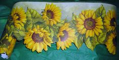 Sunflower Wallpaper Wall Art   Vintage Wallpaper Border / Sunflowers /  Decorative Edge / Sunny Wall