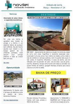 Newsletter nº 24 do dia 16 de Março - Imóveis de Leiria.  #news #newslettert #blog #imobiliario #imobiliaria #realestate #novilei #imoveis #leiria