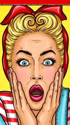 #digitalcutewalls Bd Pop Art, Pop Art Girl, Pop Art Drawing, Art Drawings, Desenho Pop Art, Comics Vintage, Pop Art Images, Pop Art Wallpaper, Wallpaper Wallpapers
