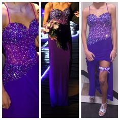 Purple, sequence, prom dress! Purple, long, sequence top, thin straps that cross in the back, slit on right leg, super comfortable! Only worn once Dresses