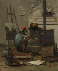 Philadelphia Museum of Art - Collections Object : Monkey in a Studio