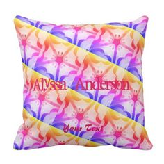 Daisy abstract Pattern Modern Throw Pillow  $29.95  by HopeStyle  - cyo diy customize personalize unique
