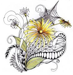 daisyweb ~ Zentangle inspired