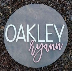 24 Round Custom Name Wood Sign Wood cut out Name cut Cute Baby Girl Names, Unique Baby Names, Kid Names, Baby Love, Nursery Name, Nursery Room Decor, Nursery Signs, Girl Nursery, Wooden Name Signs