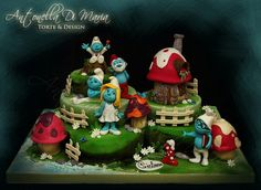 Smurfs Birthday Cake ♡