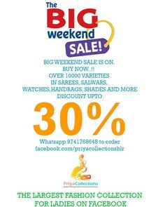 #biggest #weekend #sale on #facebook #buy #shopping  #shoppingonline  #india #sale whatsapp 9741768648 to buy