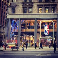 The new @NBA Store on the corner of 45th and 5th