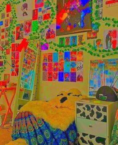 Indie Bedroom, Indie Room Decor, Cute Bedroom Decor, Room Design Bedroom, Room Ideas Bedroom, Chambre Indie, Pinterest Room Decor, Estilo Indie, Retro Room