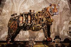 steampunk tiger drawing - Google 検索