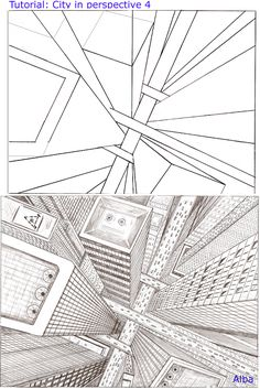 How to Draw - Tutorial: Perspective for Comic / Manga Panel Design Reference Drawing Techniques, Drawing Tips, Drawing Tutorials, Art Tutorials, Art Sketches, Art Drawings, Perspective Art, Perspective Drawing Lessons, Three Point Perspective