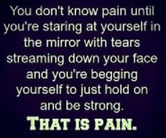 You don't know the #pain......