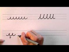 How To Write in Cursive // Lesson 1 // A complete Course // FREE Worksheets - YouTube