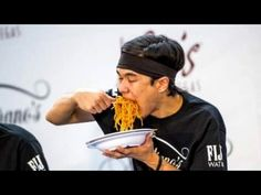 World Pasta Eating Championship (World Record Broken) - YouTube