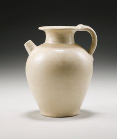 A White-Glazed Ewer Tang Dynasty - Sotheby's