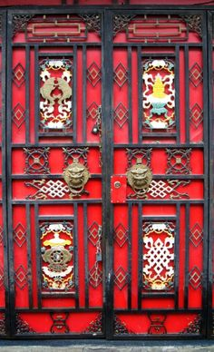Door in Sichuan, China