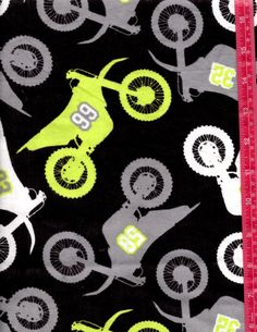 Motorcycles Black and White and Gray with Lime by julies5150world