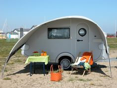 T@B 320 RS teardrop caravan with Isabella Sun Canopy.