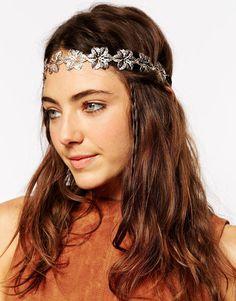 ASOS+Filigree+Flower+Chain+Headband
