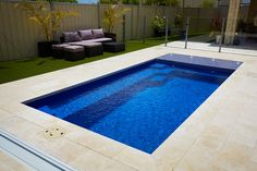 Even if you have a small backyard, you can definitely use it to create the magic of a luxurious outdoor. There are some pool ideas for your small backyard. Small Swimming Pools, Small Backyard Pools, Backyard Pool Designs, Above Ground Swimming Pools, Small Pools, Modern Backyard, Swimming Pool Designs, In Ground Pools, Pool Landscaping