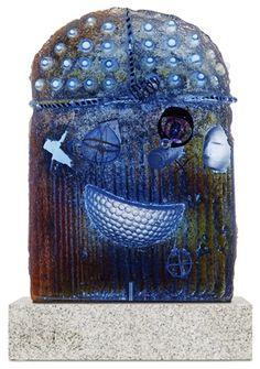 Sculpture city of Bertil Vallien Glass Design, Design Art, Cast Glass, Kosta Boda, Glass Ceramic, Ceramic Artists, New Pins, Cobalt Blue, Mosaics