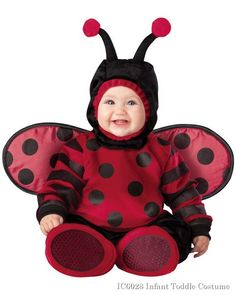 Infant Toddler Itty Bitty Lady Bug Costume This itty bitty lady is as snug as a bug in this costume! The Infant Toddler Itty Bitty Lady Bug Costume is an adorable head to to Cute Baby Halloween Costumes, Halloween Bebes, Toddler Costumes, Cute Costumes, Halloween Fancy Dress, Spirit Halloween, Baby Ladybug Costume, Costume Coccinelle, Halloween Mignon