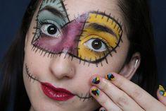 The Nightmare Before Christmas Sally makeup for halloween