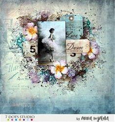 'Dance' Layout by Anna Rogalska (7 dots studio) ~ Wendy Schultz ~ Scrapbook Layouts.