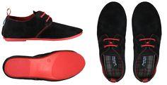 Women's Black Punka Shoe with Red Sole | Punkawala