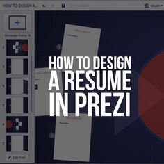 Prezumes and why you need one! It's time to start looking for a job. So, what's the first thing you do? Start updating your resume and shrinking the Times New Roman font to 11.5 so you can actually fit everything you would like to put. Then, ideally you would print out your resume (or submit online) and take it with you when turning in your application or during the in-person interview.