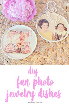 Everyone needs a few ring dishes spread strategically around the house. This personalized ring dish fits the bill. Diy Gifts, Great Gifts, Happiness Blog, Pj Party, Crepe Paper Flowers, Jewelry Dish, Foam Crafts, Diy Photo, Cute Crafts