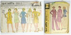 1970s McCalls Carefree Pattern Set of 2 by KrisVintageClothing, $5.00