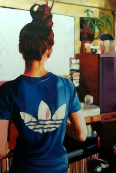 "Saatchi Art Artist thomas saliot; Painting, ""Addidas babe (sold)"" #art"