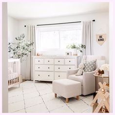 Baby Staples is due today! His nursery is pretty much finished (just want to get a floor pouf and blackout blinds) so I thought I would sha… Baby Bedroom, Baby Room Decor, Nursery Room, Girl Nursery, Nursery Decor, Room Baby, Boho Nursery, Girl Decor, Rugs In Nursery