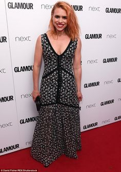 'It was a sparkler': Billie Piper sparked engagement speculation when she wore a ring on her left hand to the Glamour Women Of The Year Awards 2017 in London, on Tuesday evening Billie Piper, Awards 2017, Blonde Beauty, Band Tees, Love Fashion, Glamour, Actresses, Formal Dresses, Hair