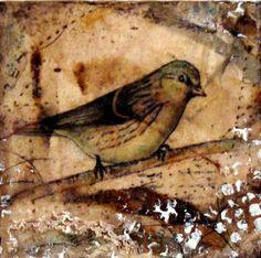 Tea bag and bird art.