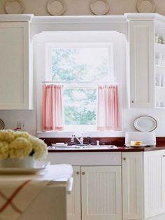 kitchen window ideas, window curtains, roman blinds
