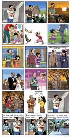 "Final ""Beardo"" strip by Dan Dougherty Comic Strips This Sweet Comic Strip About Kids Growing Up Is Hitting Parents Hard Comic Manga, Mini Comic, Comics Story, Cute Stories, Short Comics, Faith In Humanity, Funny Comics, Spiderman, Funny Memes"
