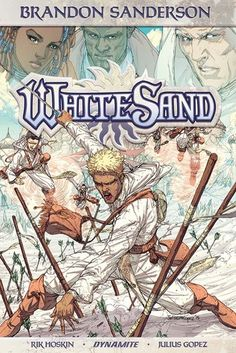 J 741.597 SAN                            2016     Author: Hoskin, Rik,     Title: White sand. [Volume 1] / story, Brandon Sanderson ;                          script, Rik Hoskin ; art, Julius Gopez ; colors, Ross                          A. Campbell ; letters, Marshall Dillon.