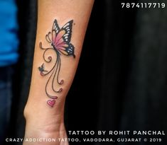 Infinity Butterfly Tattoo, Butterfly Ankle Tattoos, Flower Spine Tattoos, Cute Foot Tattoos, Butterfly Tattoo Cover Up, Infinity Tattoo Designs, Butterfly Tattoos For Women, Fairy Tattoo Designs, Tattoo Designs Wrist