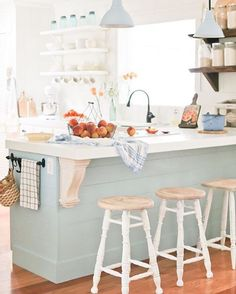 Did you guys catch this photo in the feeds of all the lovely women who host #brightwhitewednesday (last wk)?! I'm in love. There is something so sweet and cozy about a bright traditional country kitchen...I just wanna post up and hang out there all day, drinking sweet tea (or rosé), laughing with family & friends! Had to repost...this shot makes me so happy  from the beautiful feed of @camitidbits . . . . #happiness #traditional #southern #inspo #decor #kitchen #interiors #design #homedecor