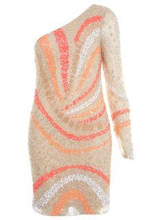 Neon Embellished Dress