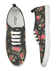 floral print shoes to wear at the flower shop